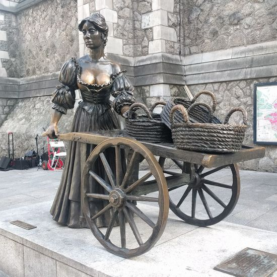 Molly Malone statue Molly Malone Statue History Architecture Built Structure Building Exterior Sculpture Human Representation Female Likeness