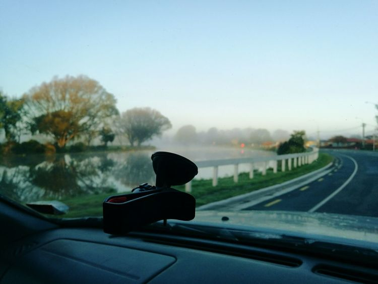 Riverside Car Car Interior Windshield Car Point Of View Winter Tree Outdoors Sky Road Day No People Christchurch Christchurch New Zealand Christchurchnz Nature EyeEmNewHere Transportation River Riverbank River Side Avon River Avonriver Sunday Morning Sundaymorning Sundaydrive