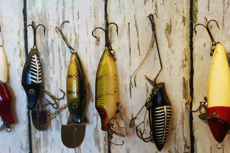 Collectibles Collection Display Fishing Fishinglures I Just Love These! The Shape, Color, Texture, History... Real People Stuff! Multi Colored Texture Vintage