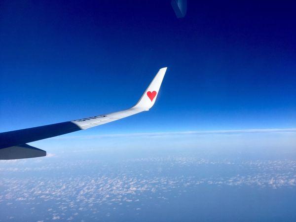 Sky Airplane Heart