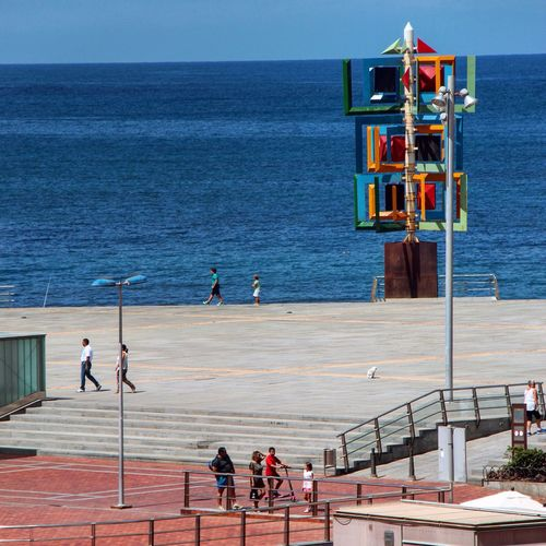 Canon Sea Square Taking Photos Enjoying Life Relaxing Canon600D Sculpture In The City First Eyeem Photo Sky
