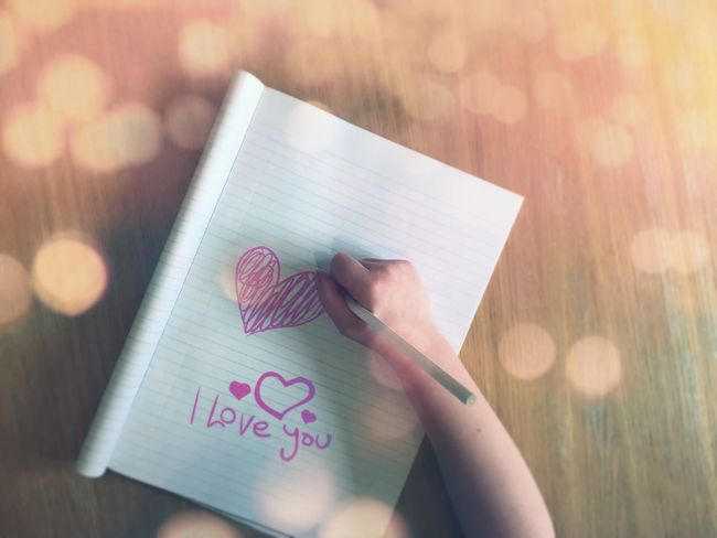 Love Writing I Love Writing I Love You Loveheart Love Hearts Heart Heart ❤ Childs Arm Child Writing Pad Of Paper Paper Paper Pad Pencil Pencil Drawing Pencil Sketch  Market Reviewers' Top Picks