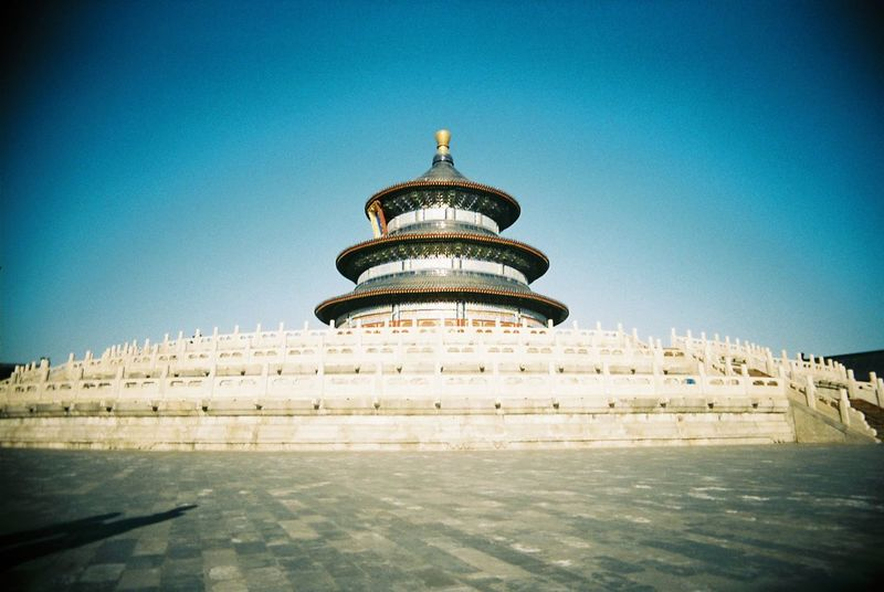 EyeEm Selects 天壇 Tiantan Architecture Built Structure History Royalty Sky Blue No People Day Outdoors Travel Travel Destinations Film 35mm Film Film Photography Vivitar Vivitar Ultra Wide &slim Beijing Beijing, China China