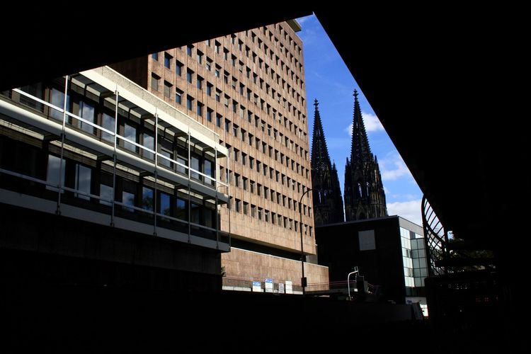 Frame Framing Cologne Germany Dom Church Politics And Government City Illuminated Modern Government Architecture Building Exterior Sky Built Structure Urban Skyline Office Building Exterior Downtown District Cityscape Tall - High Settlement #urbanana: The Urban Playground