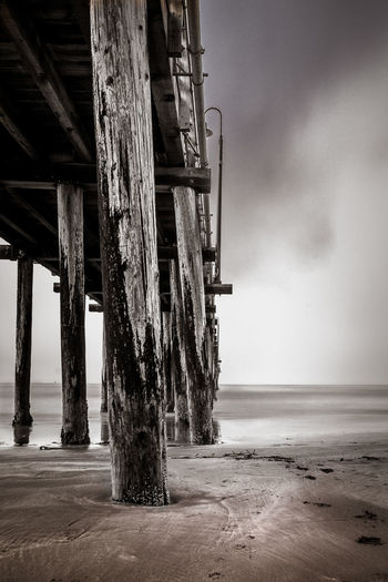 Black & White California Landscape_Collection Ocean View Pier Architecture Bay Beach Beachphotography Beauty In Nature Black And White Blackandwhite Day Landscape Nature No People Ocean Outdoors Scenics Sea Sea And Sky Seascape Sky Water Waterfront