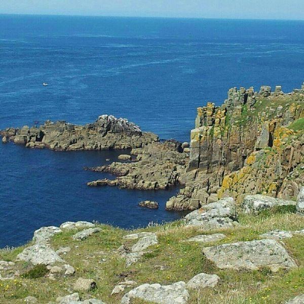 Lands End Sea Cornwall Rocks