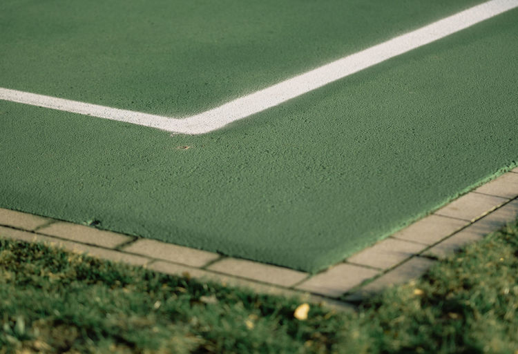 THE CORNER Green The Week On EyeEm Court Day Grass Green Color High Angle View Minimalism Minimalobsession Nature No People Outdoors Sport Tennis