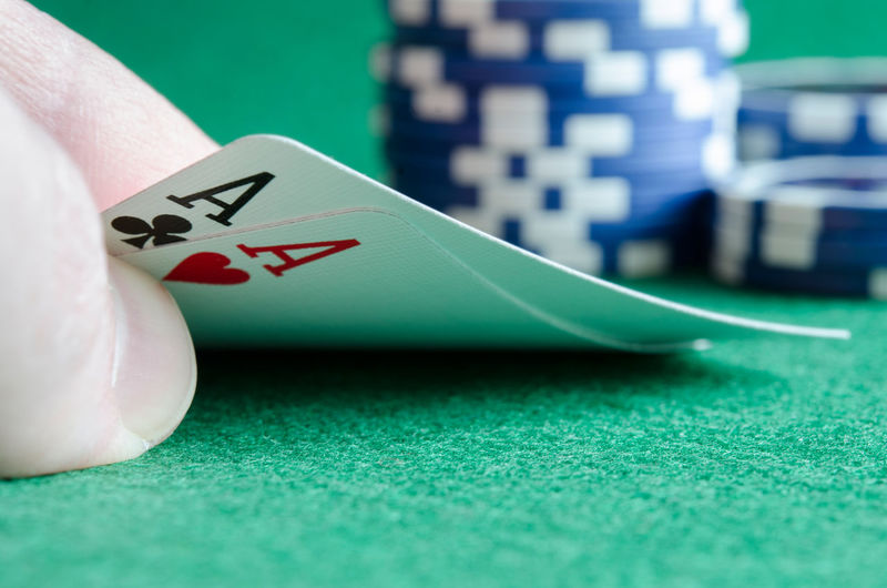 Poker AA Cards Chance Close-up Competition Day Gambling Gambling Chip Indoors  Leisure Games Luck No People Playing Poker - Card Game