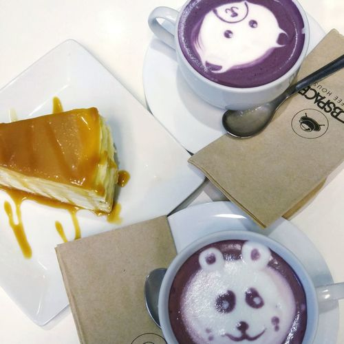 After how many years.. Nakapag SubspaceCoffee na din tayo. 😄☕🍰 Purplepotatolatte Caramelcrepecake