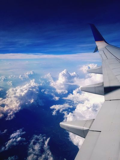 Aircraft Wing Airplane Flying Travel Nature Cloud - Sky First Eyeem Photo