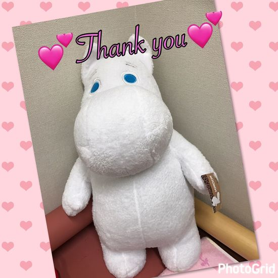 頂き物🤣 Pink Color No People Teddy Bear Stuffed Toy Indoors  Gift Pillow Food Bedroom Day EyeEm Best Shots EyeEm Gallery Moon Iphone7 Love Fukuoka Japan Present Moomin Happy Thank You 大川 ありがとう 癒し ムーミン
