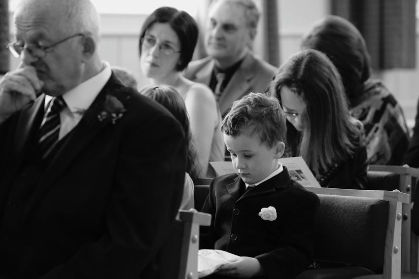 Weddings Around The World Ceremony Waiting Celebration People People Watching Seated Wedding Wedding Photography Wedding Day Wedding Ceremony Wedding Guests EyeEm Best Shots Eye4photography  Monochrome Portrait Church Sitting Portraits Monochrome Black & White Black And White Guests Wedding Photos Weddings Watching
