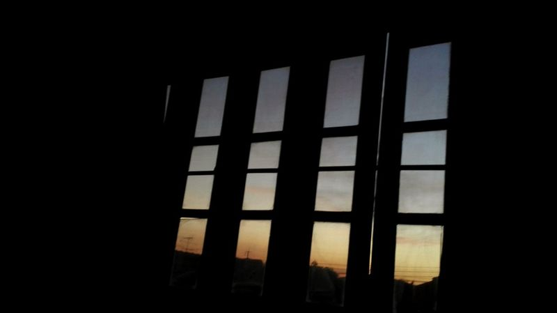 In the room Room With A View Window No People Indoors  Dark Architecture Day Window View Shadow And Light Shadow Sunshine Sundown Vanilla Sky Orange Color Orange Sky Yellow Sky HomeAlone Home Back Home
