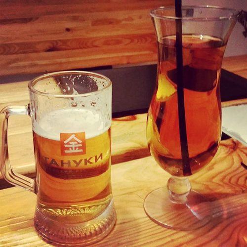 Пиво - @olik_d )) яблочный сок - мой )) зож неталкоголь