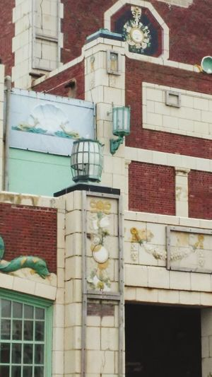 Colorful Brick Building Oceanside ArtWork Old Buildings Architecture Asbury Park New Jersey Boardwalk Art Antiques