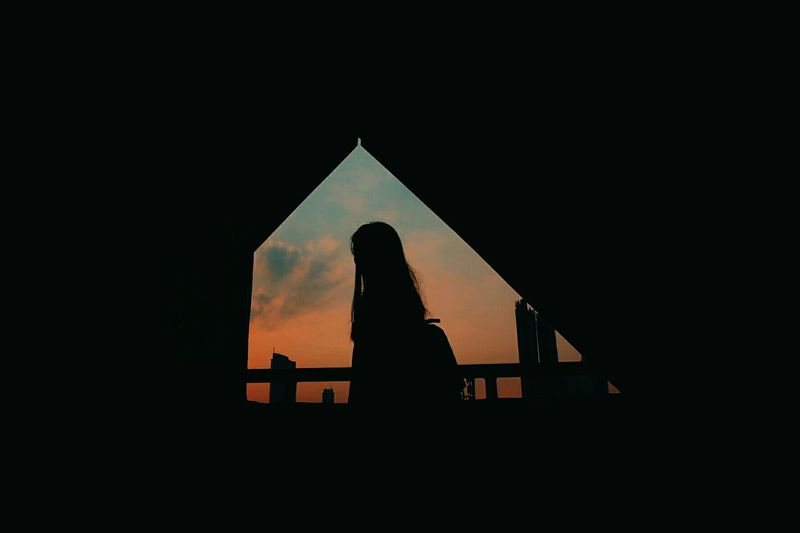 Silhoutte but not secret EyeEm Selects Silhouette Sunset Built Structure Architecture Sky Outdoors One Person People EyeEmNewHere Fujifilm Landscape Spooky VisualArt  Camera - Photographic Equipment Full Length Like4like Photooftheday Photography Building Exterior City Fineartphotography