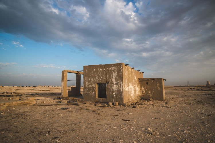 Cloud - Sky Sky Abandoned Architecture Built Structure Damaged Land Old Nature No People Obsolete History Day Field Ruined Broken Outdoors Building Exterior Run-down Weathered Deterioration Ancient Civilization
