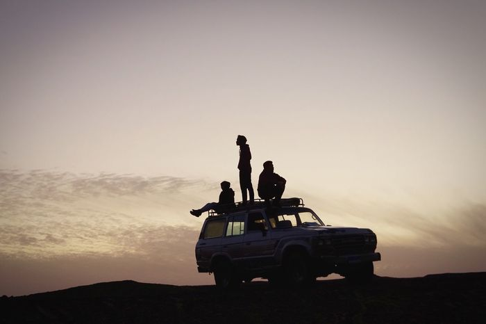 Lost In The Landscape sillhoute Silhouette sunset Sunset people Men Car Men Style