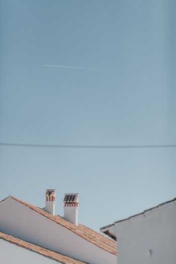 Chimney Chimney Tops Chimneys Roof Rooftop Architecture Building Exterior Built Structure Clear Sky Day Low Angle View No People Outdoors Roof Roof Beam Roof Tile Roofs Sky