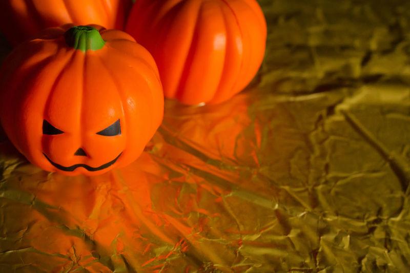 Close-up of pumpkin during halloween