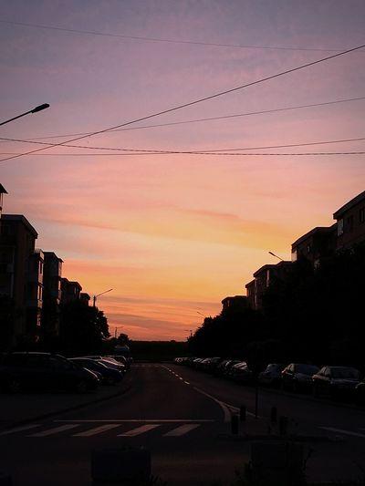 Beautiful Sunset City Life