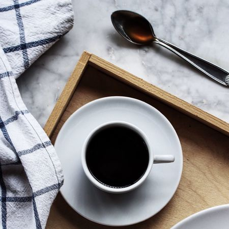 EyeEm Best Shots Coffee Cup Drink Coffee - Drink Refreshment Food And Drink Directly Above Black Coffee High Angle View Table Still Life Spoon Saucer Cup Book Pen Freshness Beverage Hot Drink Non-alcoholic Beverage No People Breakfast Food Home Food And Drink