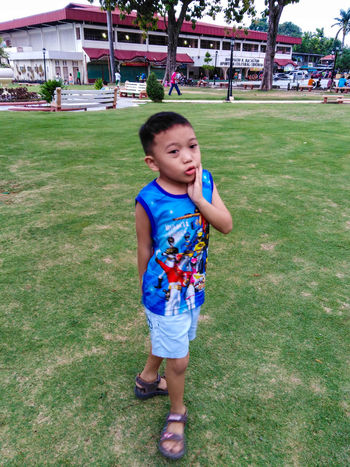 EyeEm Selects Child Childhood Full Length Portrait Happiness Smiling Cute Grass