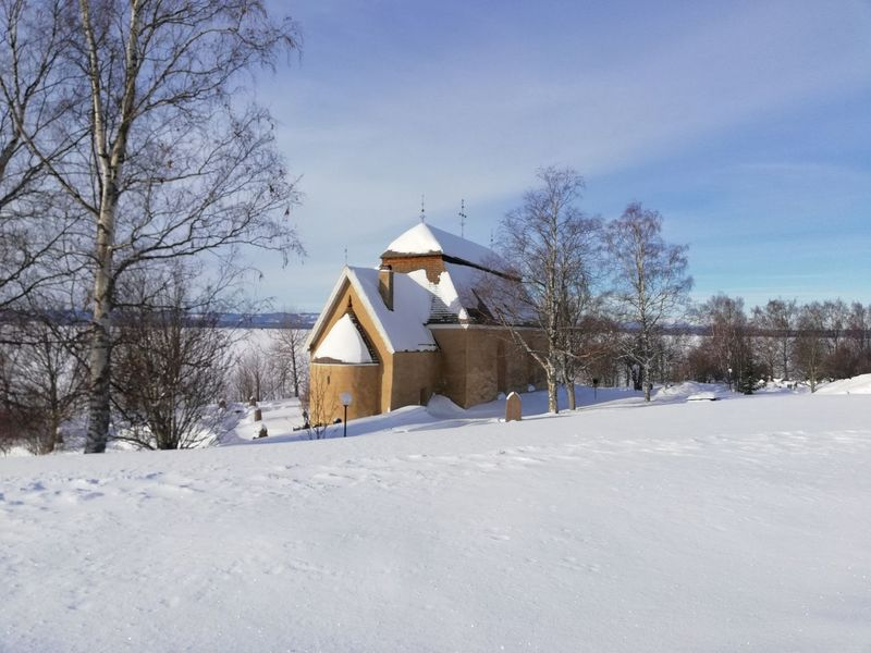Medieval Church Pilgrimage Church Chatholic Medieval Vintern Vinterbild