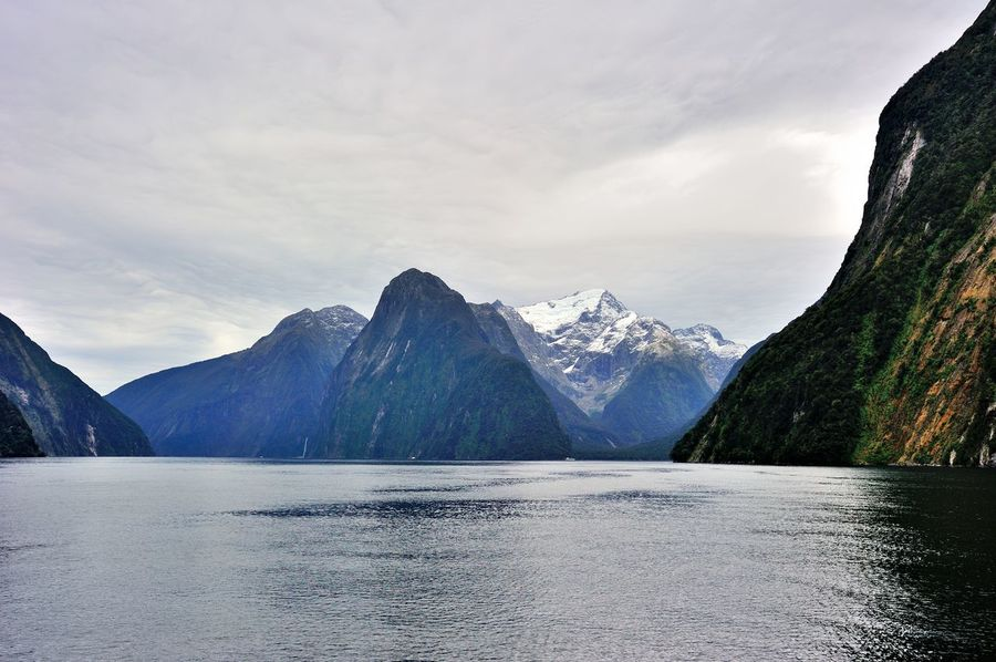 New Zealand Landscape Nature Queenstown Newzealand Nature Photography Mountain_collection Natural Pattern Milfordsounds Milford Sound
