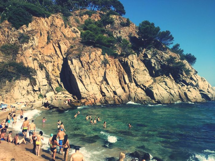 Beach Sea Rock Formation Nature Vacations Water Beauty In Nature Summer Scenics Platja D'es Codolar Tossa De Mar Girona Summer Exploratorium