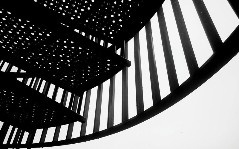 Shapes And Forms Stairs Outside Photography Steel Stay Strong Black & White B&w ArtInMyLife Followme Upanddown Steps And Staircases Stepbystep Searching for Adventures and Surprises Wandering Makethebest  of this Day Minimalist Architecture