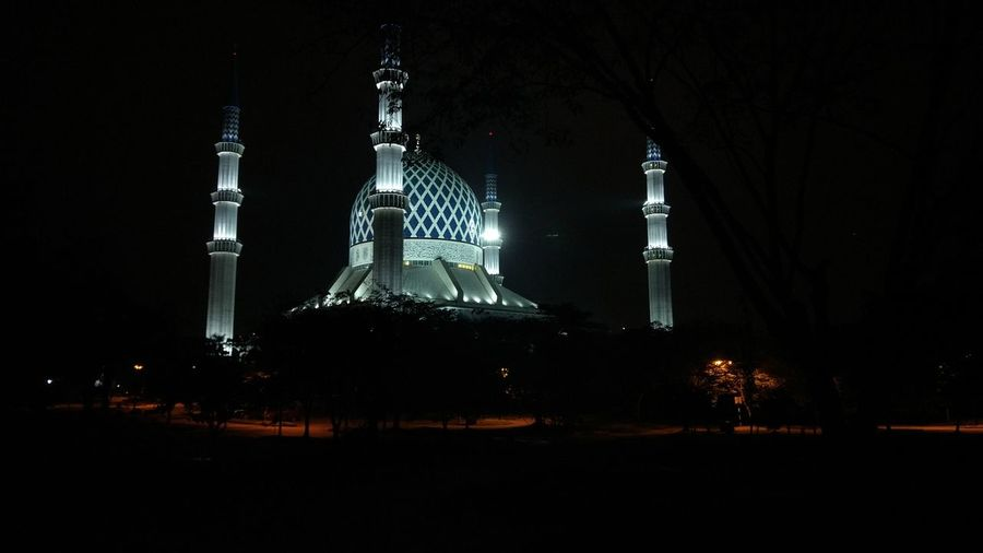 Nightphotography Mosque National Mosque Malaysia City Place Of Worship Religion Spirituality Architecture Sky Built Structure