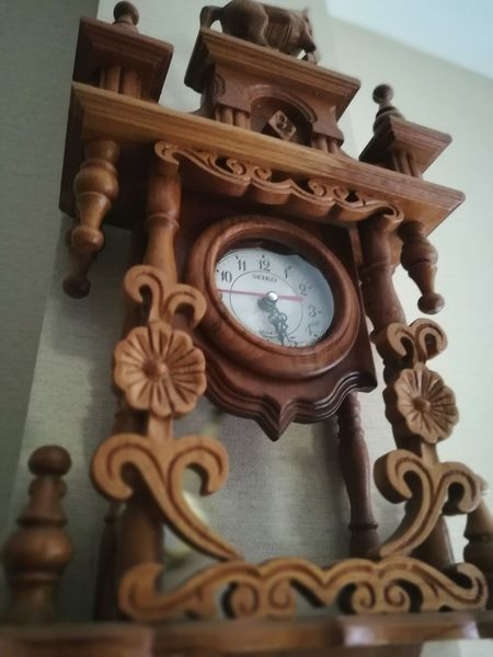 Time Clock Clock Face Indoors  Wood - Material Classic