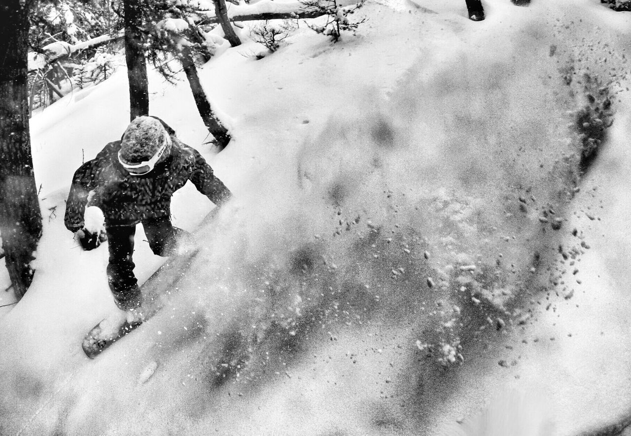 Snowboarder In Motion