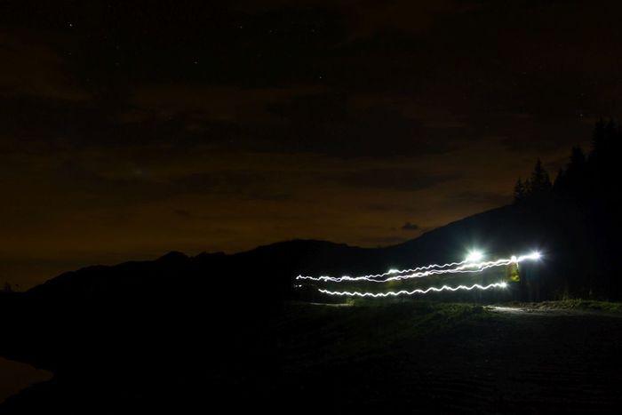 Walking in the night Nightphotography Lights EyeEmSwiss DSLR Streamzoofamily Mountains Creative Light And Shadow