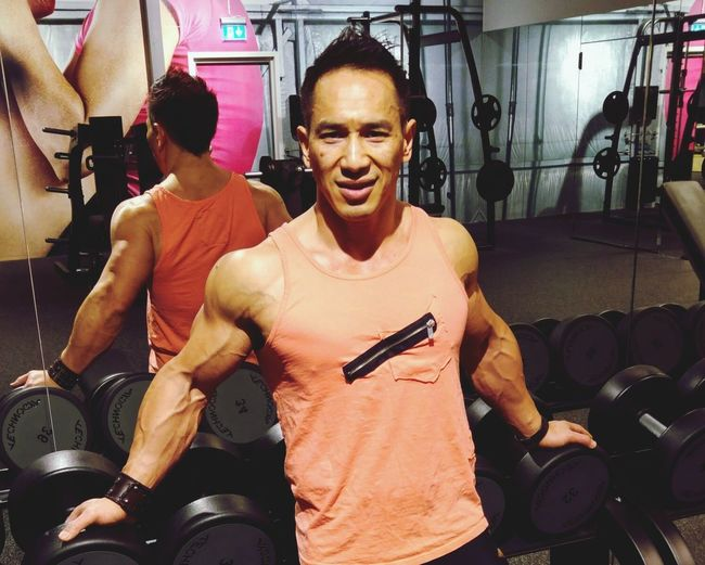 Sculp my body real hard. Exercising Gym Strength Healthy Lifestyle Athlete Sportsman Fitness Training Fitnessmotivation Fitnesslifestyle  Fit4life