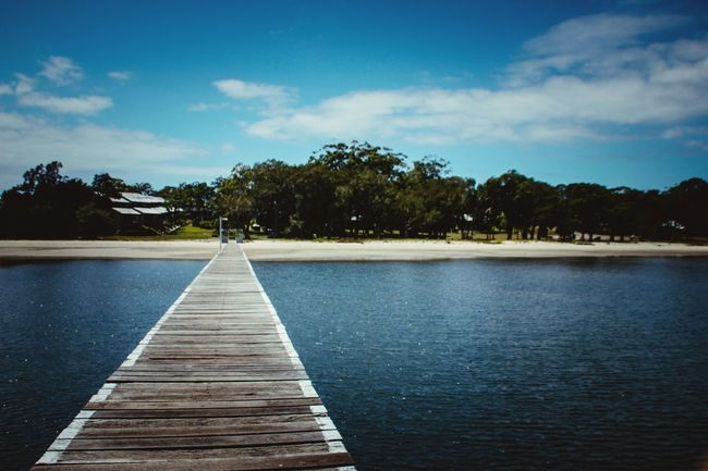 Water Tree Lake Blue Outdoors Nature Natural Parkland No People Landscape Day Sky Architecture Pier Nature Sea Sand Beach Wood - Material Built Structure Australia Nelson Bay Relaxing Moments Travel Destinations
