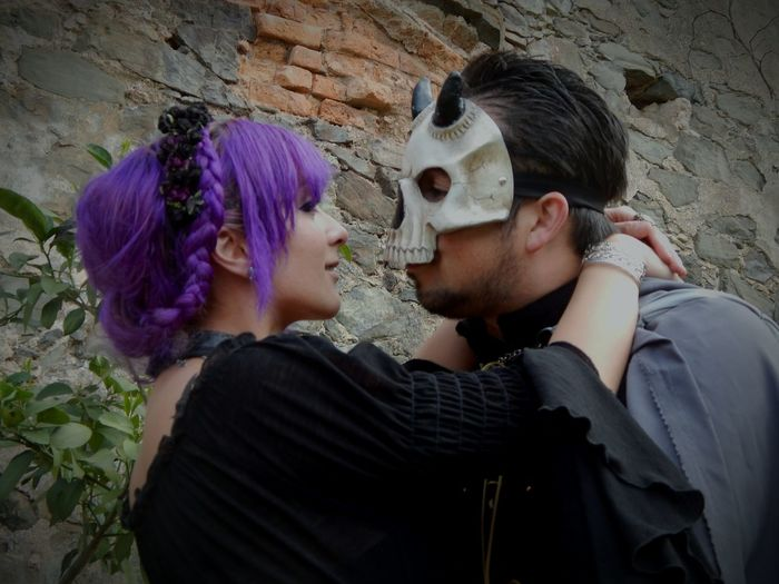 Witch Skull Assassin Medieval Festival Skull Face Purple Hair Evil Kiss Kiss The Portraitist - 2016 EyeEm Awards
