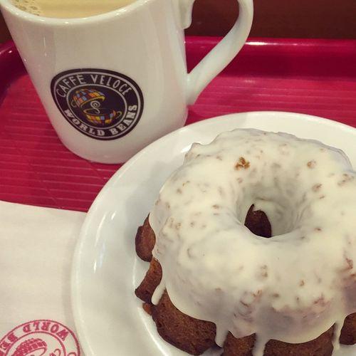 Coffee Veloce ヴェローチェ エスプレッソキャラメルケーキ 意外にボリュームあった…??☕️