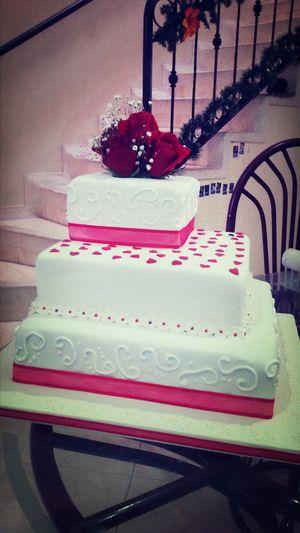 Cake Matrimonio Rosas Fondant