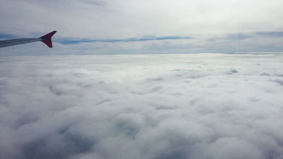 Art Is Everywhere Airplane Sky Plane Cloud Clouds And Sky View From An Airplane White Color Plane Wing