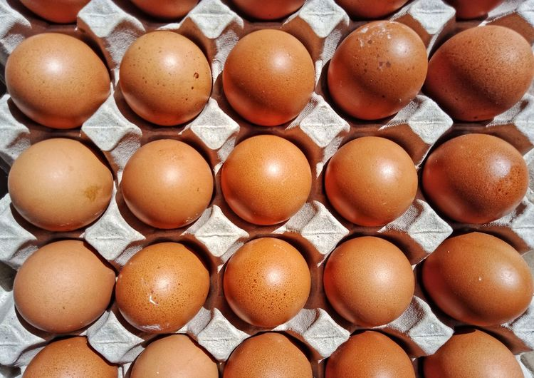 Full frame shot of eggs