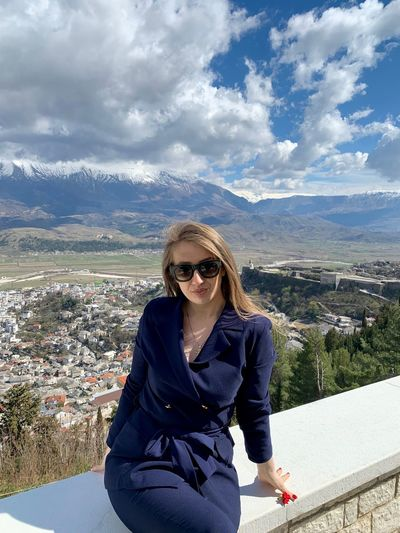 One Person Mountain Looking At Camera Lifestyles Portrait Real People Leisure Activity Sky Front View Young Adult Cloud - Sky Beauty In Nature Standing Nature Young Women Day Glasses Sunglasses Fashion Hair Mountain Range Outdoors Hairstyle IPhone XS Max Photography Suit Gjirokaster Portrait Of A Woman Blue Suit Blond Hair Blond Girl Albania Looking At Camera Panoramic Landscape 30-35 Years Old