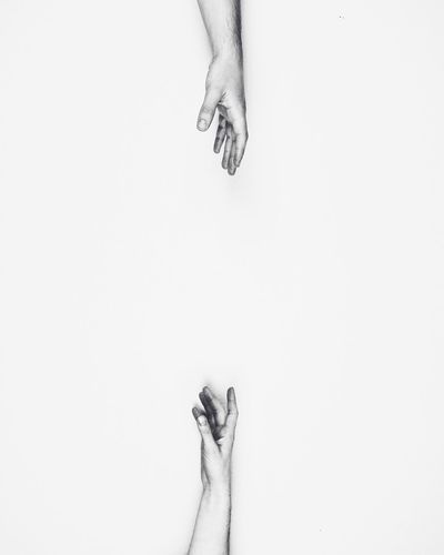 Low section of human against white background  separation of love
