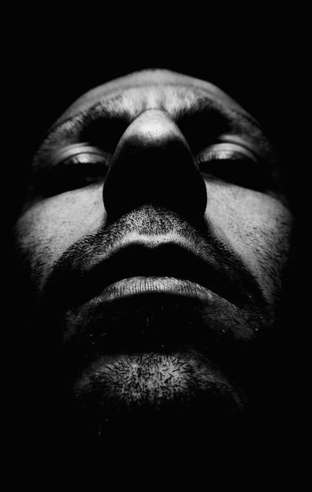 Black And White Dark Portrait