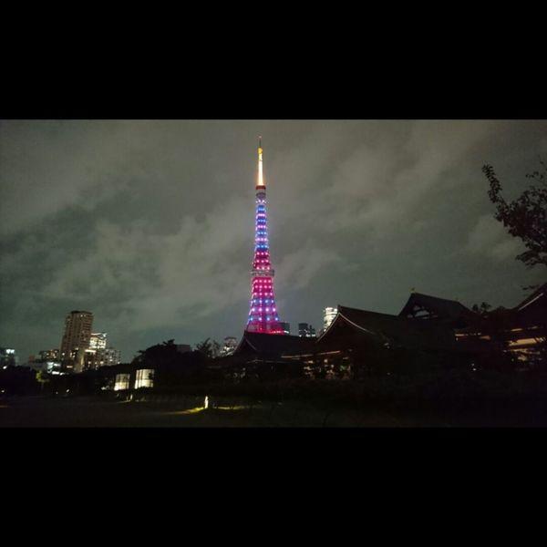 東京タワー Tokyo No People Tower Night Tokyo Tower 増上寺 Zojojitemple