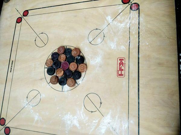 Indoors  No People Carrom Carromboard Indoor Games