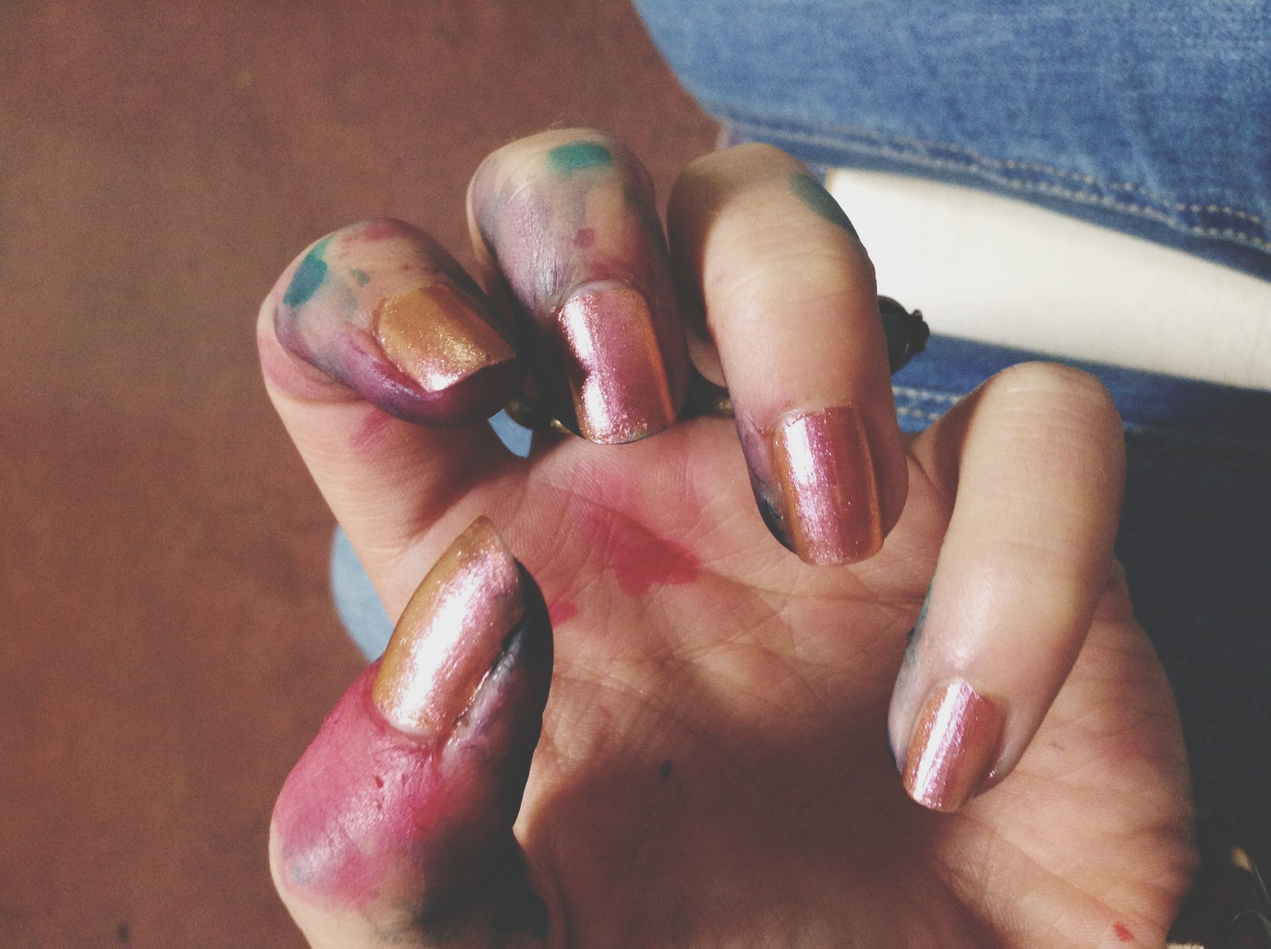 person, indoors, part of, low section, human foot, lifestyles, human finger, personal perspective, high angle view, barefoot, cropped, holding, leisure activity, close-up, nail polish