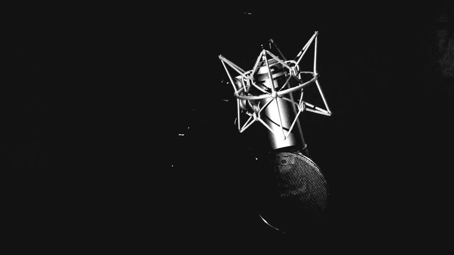 Microphone Work Studio Recording Session Recording Studio Recording Vocals Recording The Announcements  Recordingartist Black And White Photography Blackandwhite No People Indoors  Close-up