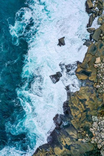 Dronephotography Mavicpro2 Drone  Beach Ocean Rockpool Cliff Australia Water No People Day High Angle View Nature Outdoors Full Frame Beauty In Nature The Great Outdoors - 2019 EyeEm Awards